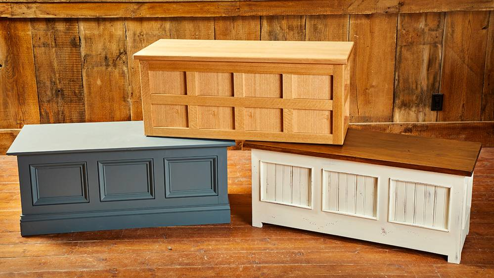 Paneled Storage Chests